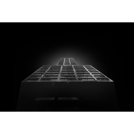 Canvas Print Black and White Dark Architecture Tower Skyscraper Stretched Canvas 10 x 14