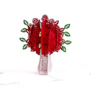 Rose 3D Pop Up Card for Valentine's Day, Lover Card, Romance Card, Cute Card, Couple Card, Wedding Card, Happy Birthday Anniversary Greeting Cards To Write Your Heart for Your Lover