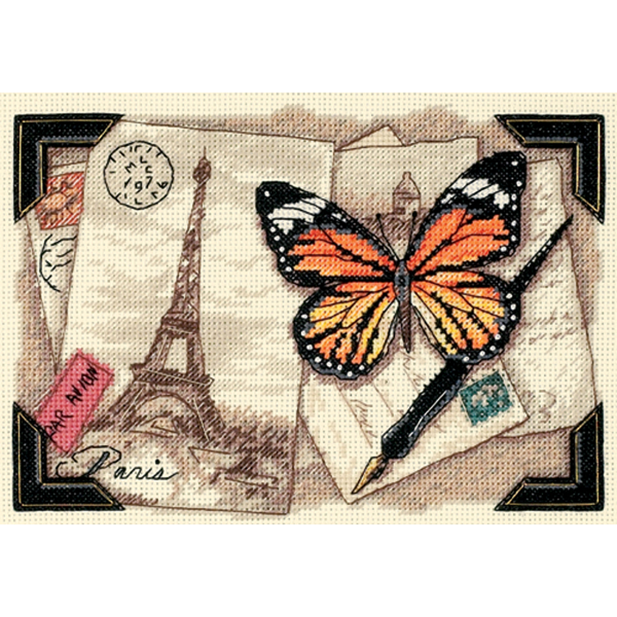 "Dimensions Gold Collection Petite ""Travel Memories"" Counted Cross Stitch Kit, 7"" x 5"""
