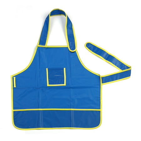 Children Kids Waterproof Art Craft Apron Smock for DIY Painting Drawing (Blue) - Painting Smock