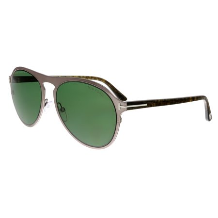 - Tom Ford FT0525 14N Bradburry Silver Aviator Sunglasses