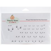 Peachy Keen Stamps Clear Face Assortment 27/Pkg-Wide Eyed Kids