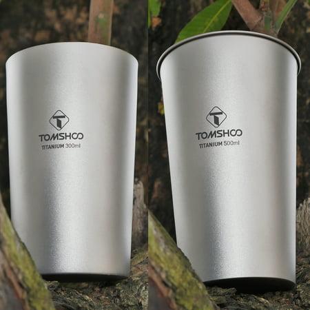 Titanium Single-Wall and Double-Wall Beer Cup Set 300ml 10oz 500ml 17oz - image 1 de 7