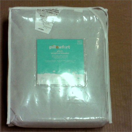 Pillowfort 6lbs Plush Weighted Blanket - 40 x 60 - Gray Foggy Day