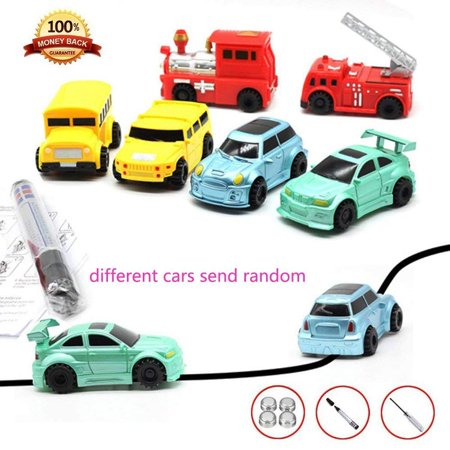 Caroj Children Mini Creative Drawn Line Follow Electric Inductive Toy Car 1pcs - image 7 of 7