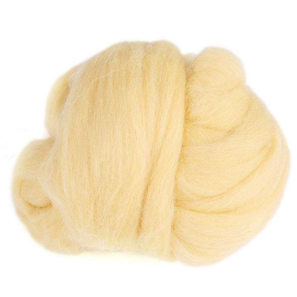 Wool Roving Needle Felting Wool Yarn Roving Wool Fibre Super Soft Hand Spinning DIY Craft Materials 55g White
