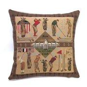 Corona Dcor Corona Decor French Woven New Scotland Golf Cotton and Wool Decorative Throw Pillow