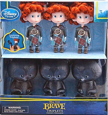 Disney   Pixar Brave Triplets & Bears Exclusive Doll Set by