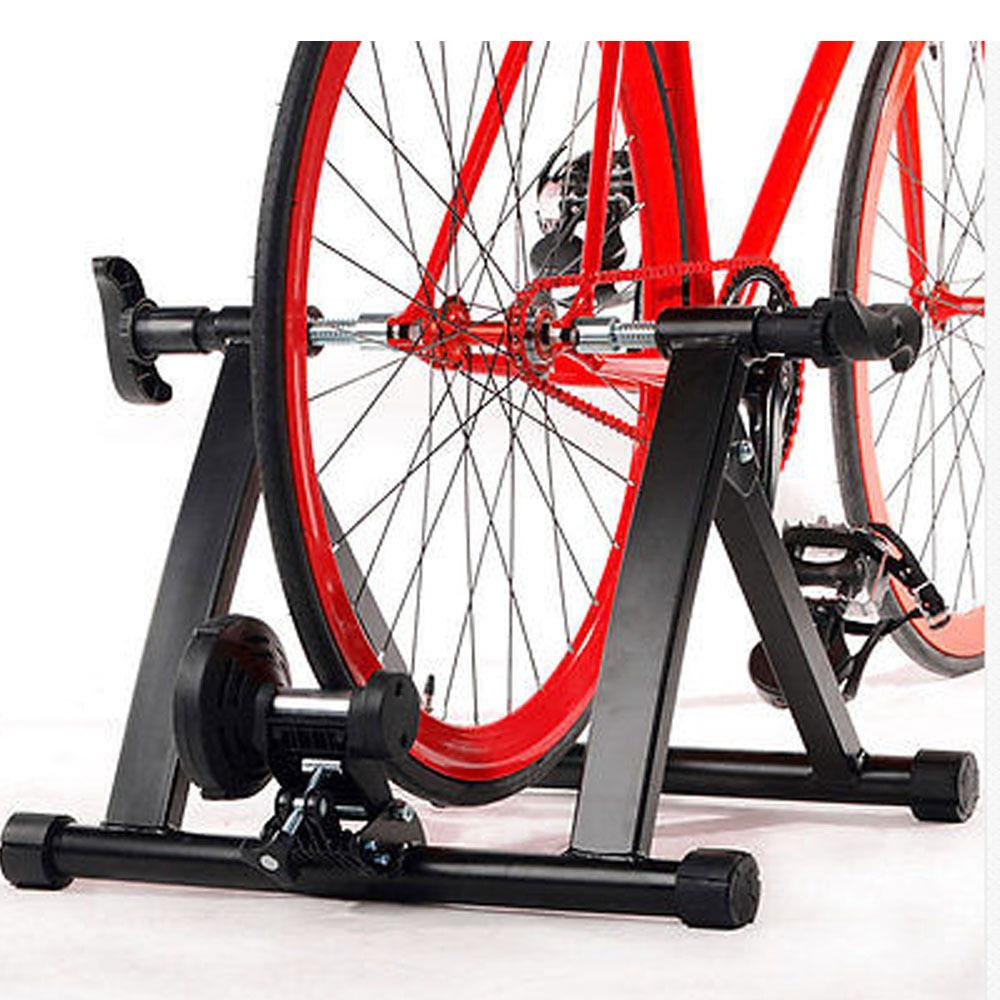 Ktaxon Bike Trainer Stand 5 Level Magnetic Resistance, Indoor Stationary Bicycle Exercise Stand, for Home Workout, Road Cycling Training