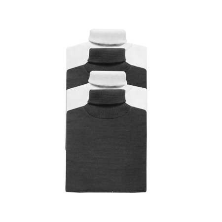 - Hampton Direct Unisex Mock Turtleneck Dickies 4 Pack - 2 Black/2 White