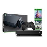 Microsoft Xbox One X Refurbished 1TB Black 4K Ultra HD Console Battlefield V Deluxe Edition and Battlefield 1943 Bundle