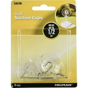 Hillman Small Suction Cup Hooks (1/2lb) 8 Pack