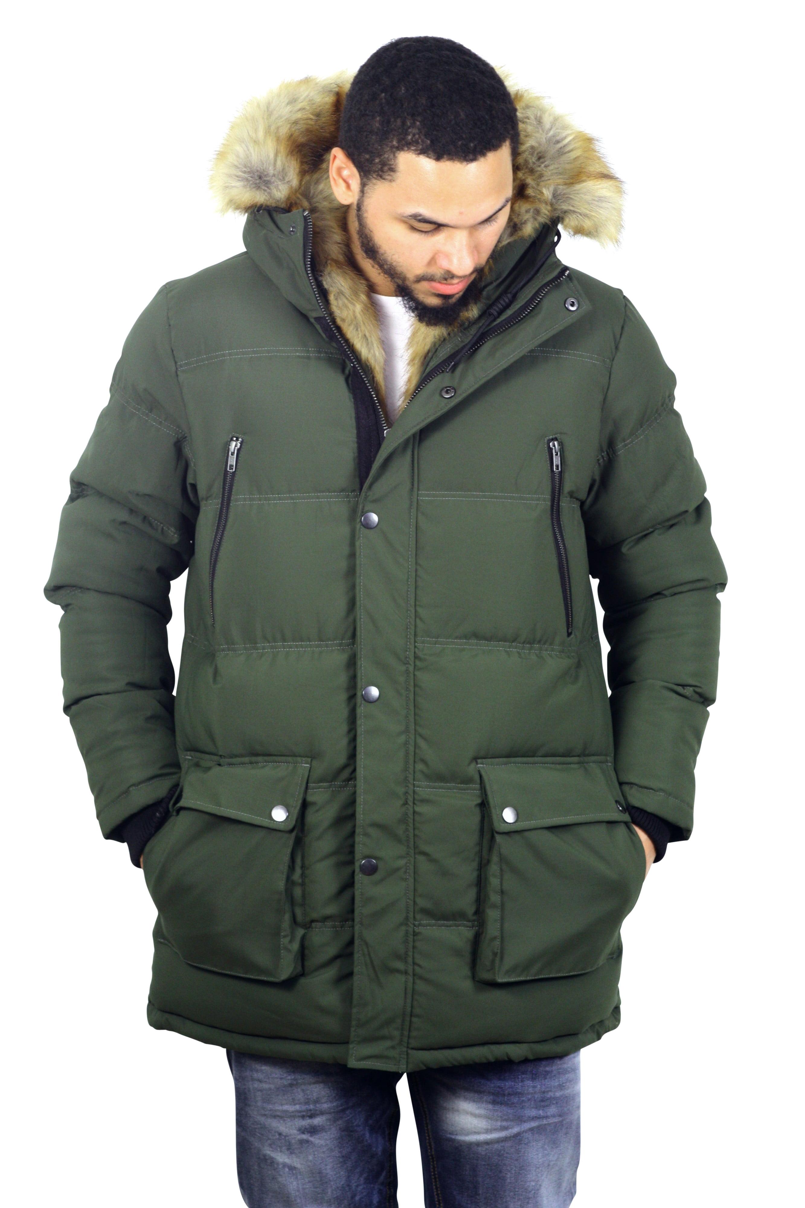 de62361120db Jordan Craig - Jordan Craig Fargo Faux Fur Lined Quilted Parka Army Green L  - Walmart.com