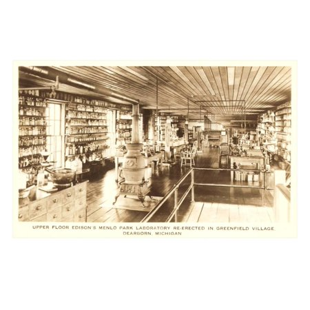 Edison's Laboratory, Greenfield Village, Dearborn, Michigan Print Wall Art - Party City Greenfield