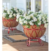 Large Metal Planters / Plant Container w/ Coco Liner Set of 2