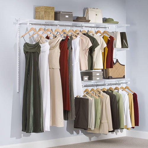 Rubbermaid Fg3g5902wht Configurations Closet Kit White Walmart