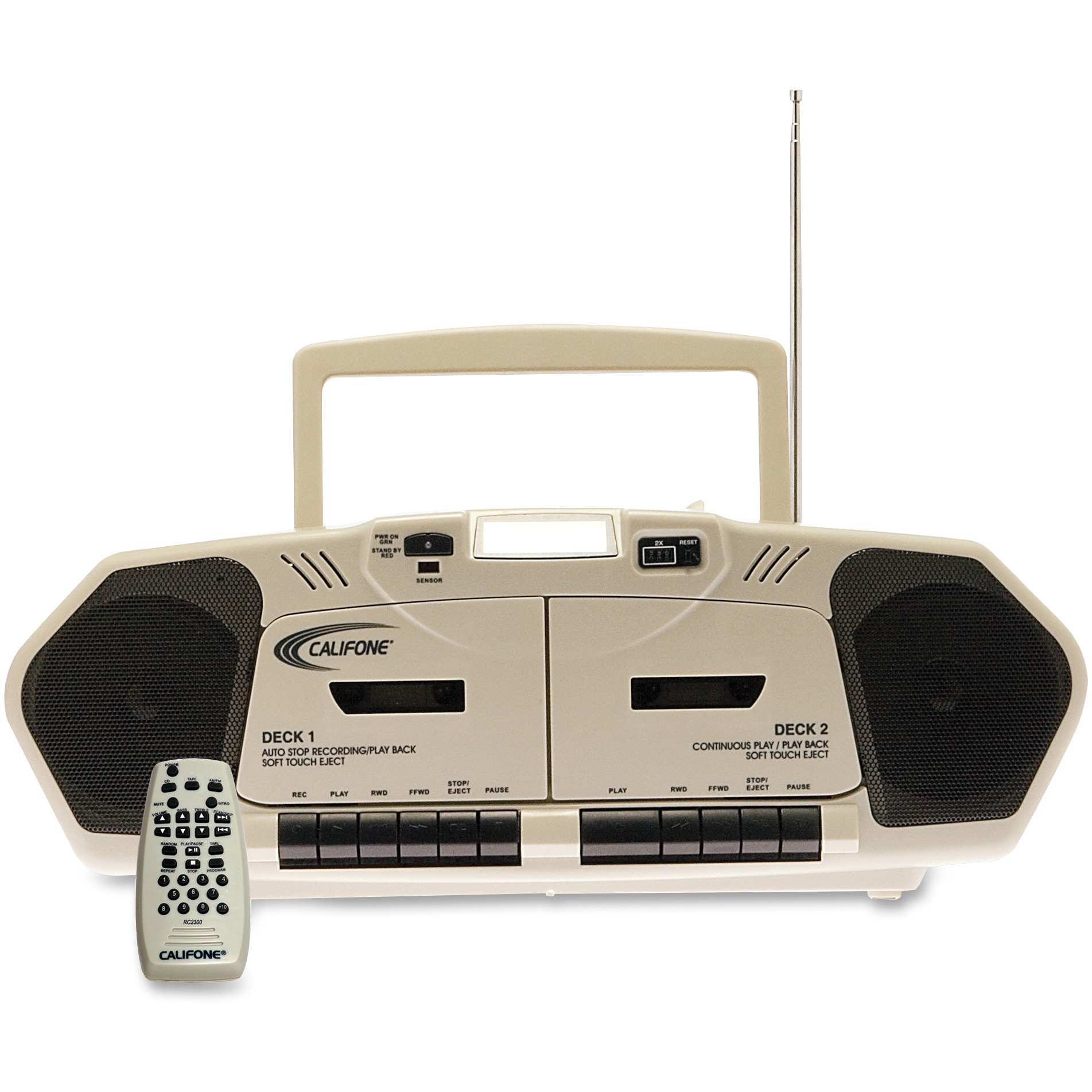 Califone 6W Dual Cassette/Cd by Ergoguys, Beige