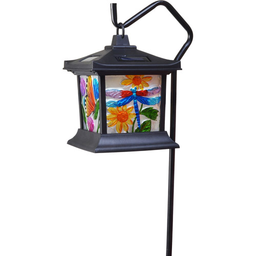 Moonrays 92276 Solar Powered LED Floral Stained Glass Light by Coleman Cable Inc