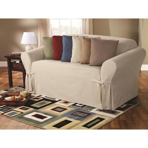 Sure Fit Classic Duck Washable Sofa Slipcover Walmart