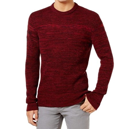 American Rag NEW Red Mens Size Large L Crewneck Marled Knit Sweater