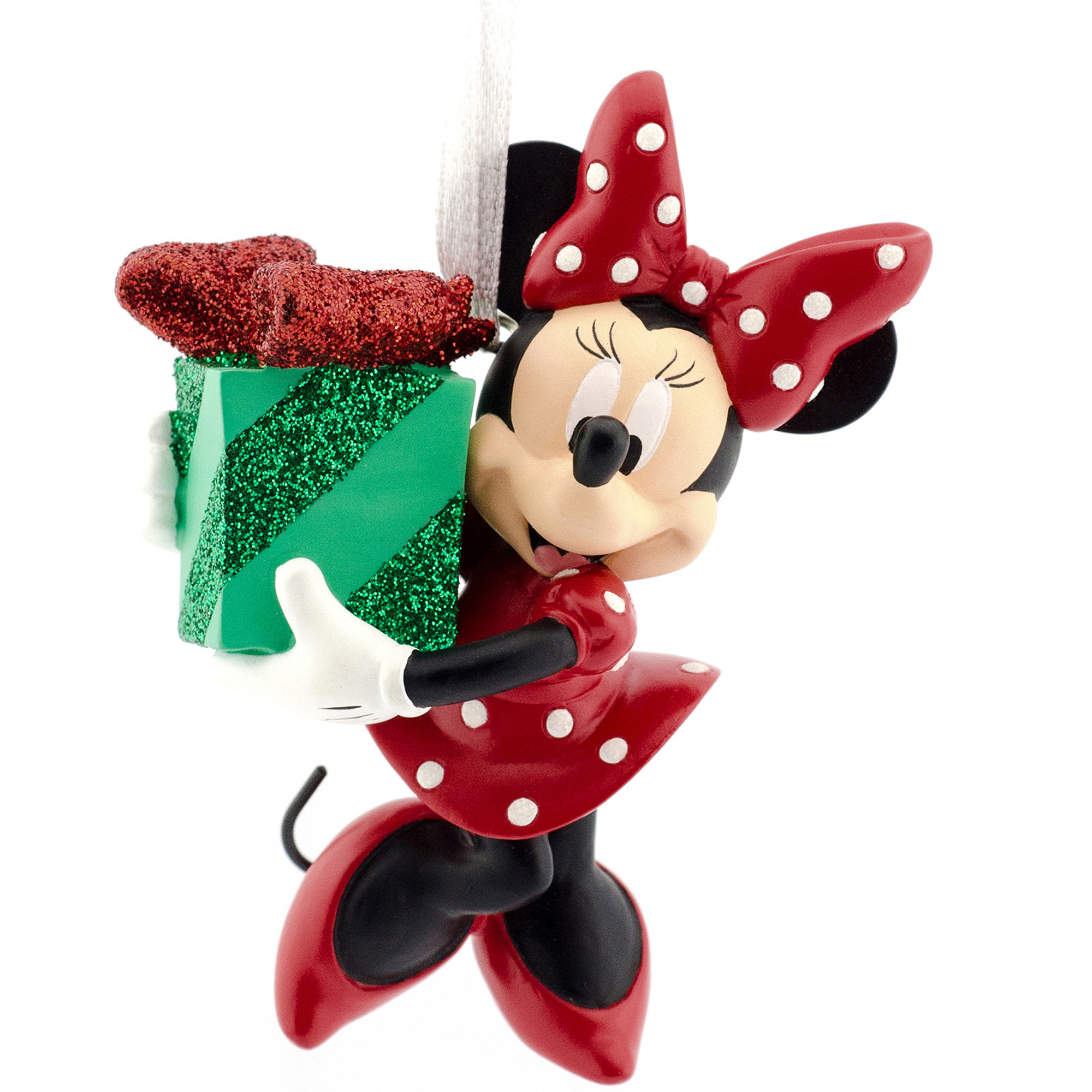 hallmark disney minnie mouse with gift christmas ornament walmartcom - Minnie Mouse Christmas Ornament
