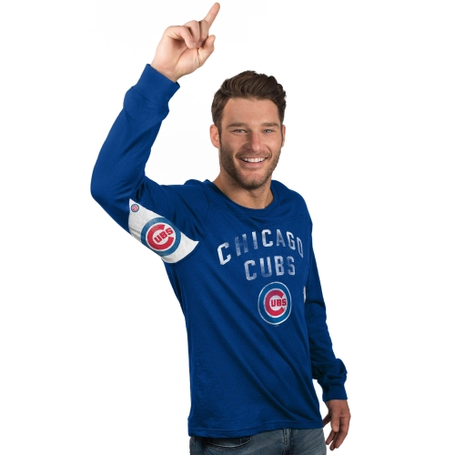 Chicago Cubs Hands High Long Sleeve T-Shirt - Royal
