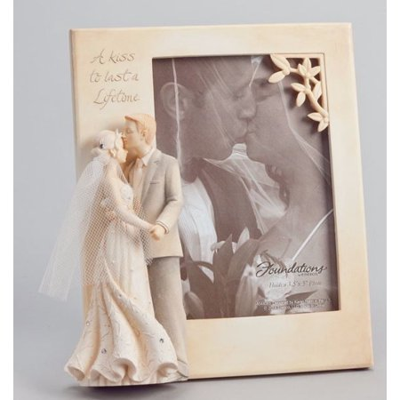 Foundations A Kiss To Last A Lifetime Wedding Photo Picture Frame 3 x (Best Foundation For Wedding Photos)