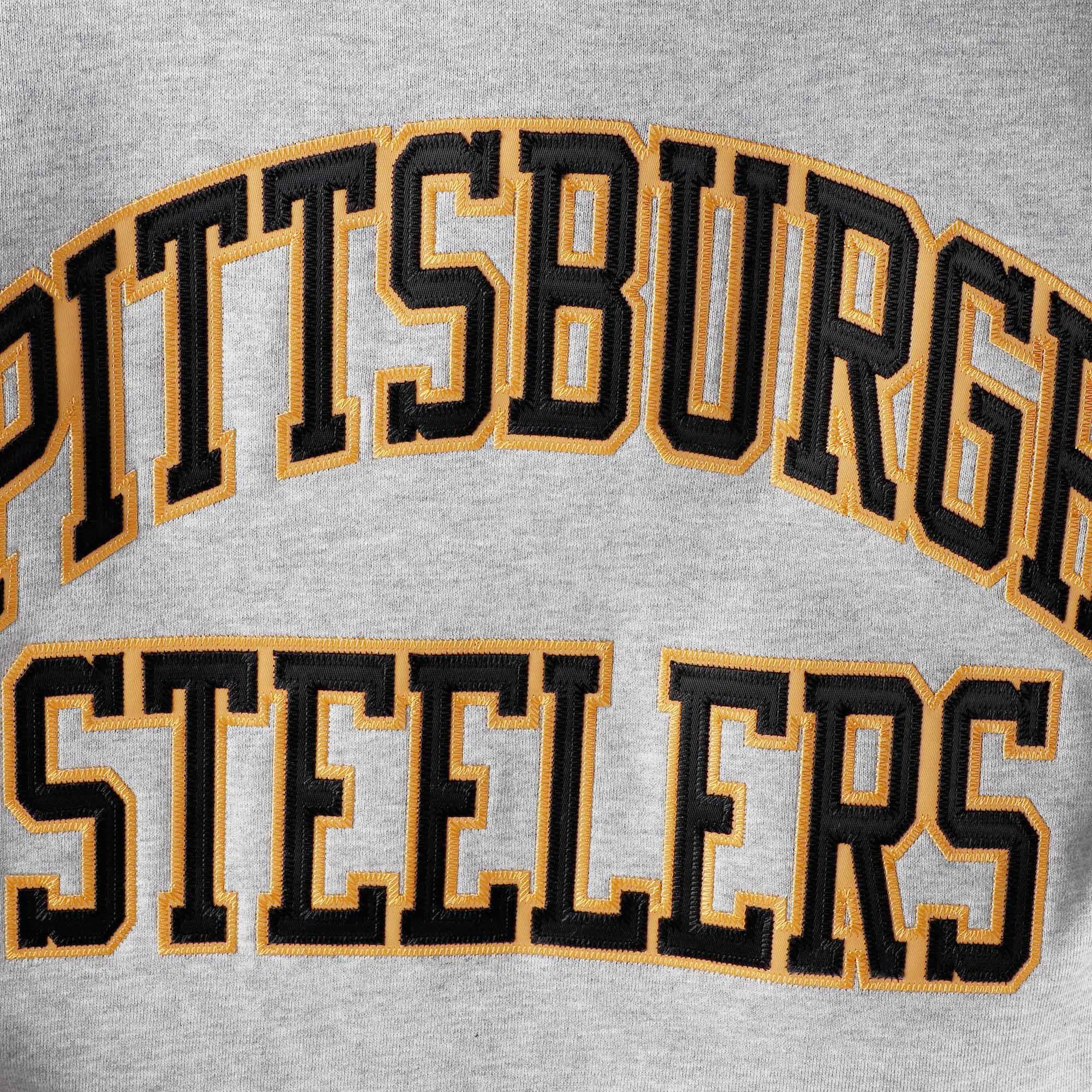 c6c775690b9 Pittsburgh Steelers Mitchell   Ness Big   Tall Playoff Win Pullover Hoodie  - Heathered Gray - Walmart.com