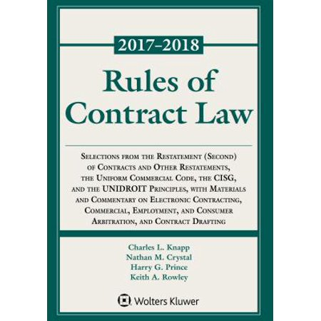 Rules of Contract Law, 2017-2018 Statutory Supplement (Express Law Contract Law)