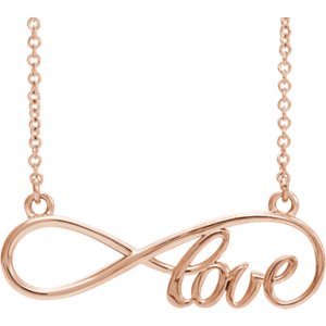 - Jewels By Lux 14K Rose Gold Love Infinity-Inspired 17