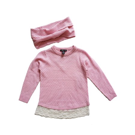 Limited Too Lace Hem Sweater With Circle Scarf, 2-Piece (Little Girls & Big - Girls Argyle Sweater