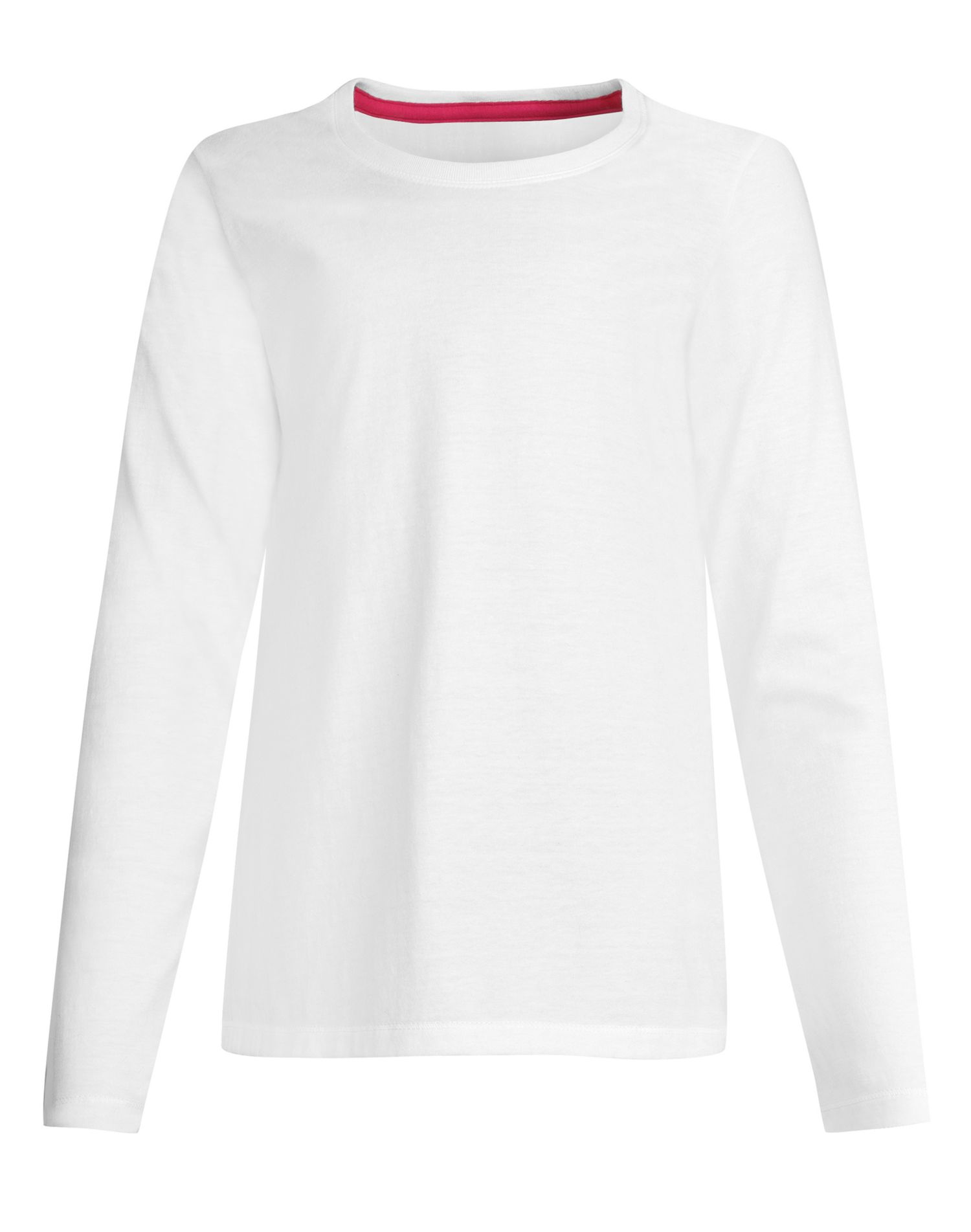 Hanes Girls` Long-Sleeve Crewneck T-Shirt 7857e7b570c