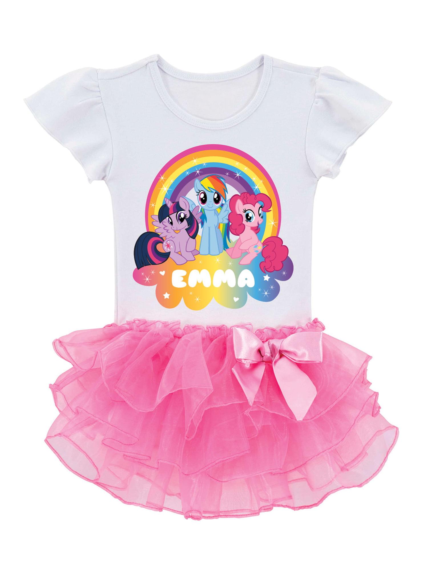 Personalized My Little Pony Rainbow Magic Toddler Girls' Tutu T-Shirt