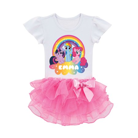 Personalized My Little Pony Rainbow Magic Toddler Girls' Tutu T-Shirt - My Little Dress Up
