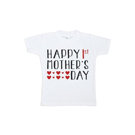 Custom Party Shop Unisex Baby's Happy 1st Mothers Day T-shirt - Red and Grey / 3T](Custom M&m)