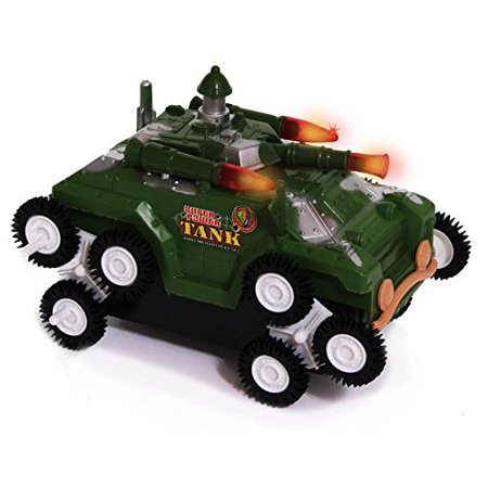 Toy Armor (Toy Army Tank - Flashing Lights and Fighting Sounds - Battery Operated Military Battle Truck - By Dazzling)