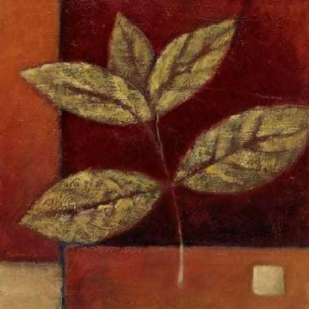 Ursula Salemink Roos Grass (Crimson Leaf Study II Stretched Canvas - Ursula Salemink-Roos (12 x 12))