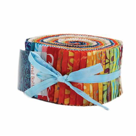 Moda Carnival Batiks Jelly Roll 42 Fabric Strips 2.5 by 42 inches