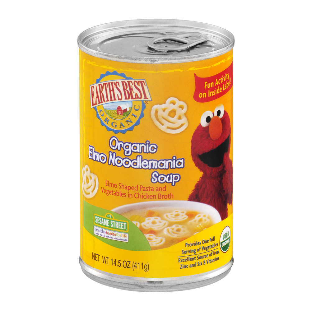 Earth's Best Organic Elmo Noodlemania Soup, 14.5 OZ