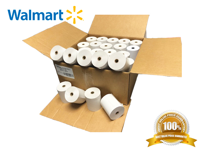 "3-1 8 x 230' (50 Rolls) Thermal Paper 3"" diameter Cash Register and Pos Printers BPA Free # 1 Voted By... by ENGATEL"