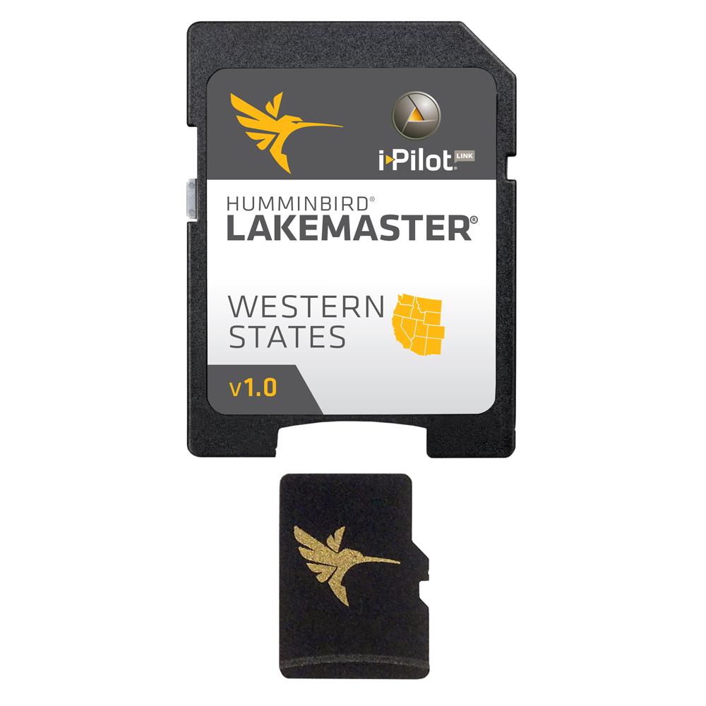 Humminbird Western (WA/OR/CA/NV/AZ/NM/CO/WY/MT/UT/ID) States Digital Chart MicroSD with Adapter