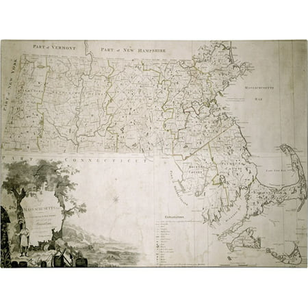 Trademark Art 'Map of the State of Massachusetts, 1801' Canvas Art