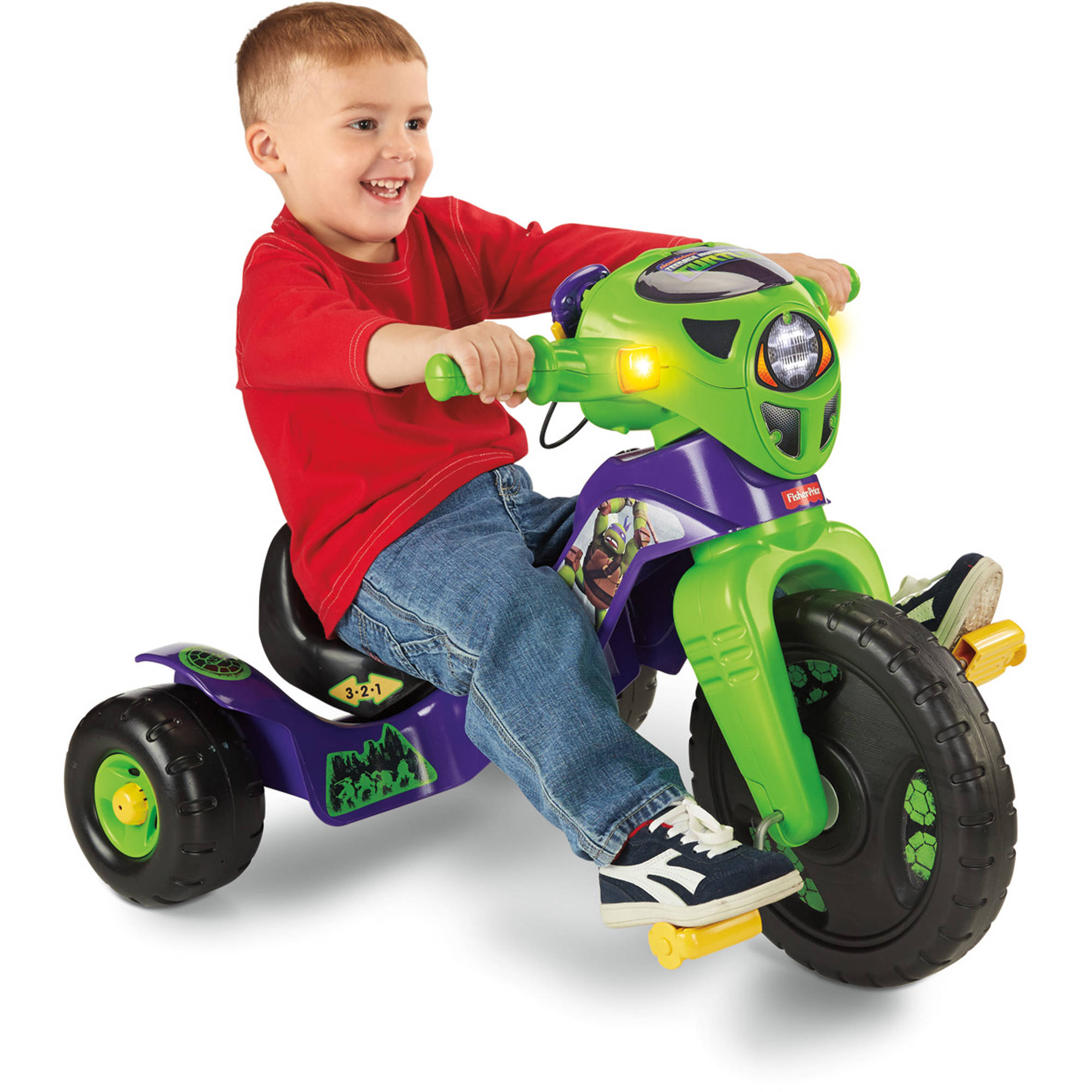 Fisher-Price Lights & Sounds Teenage Mutant Ninja Turtles Pedal Ride-On Trike