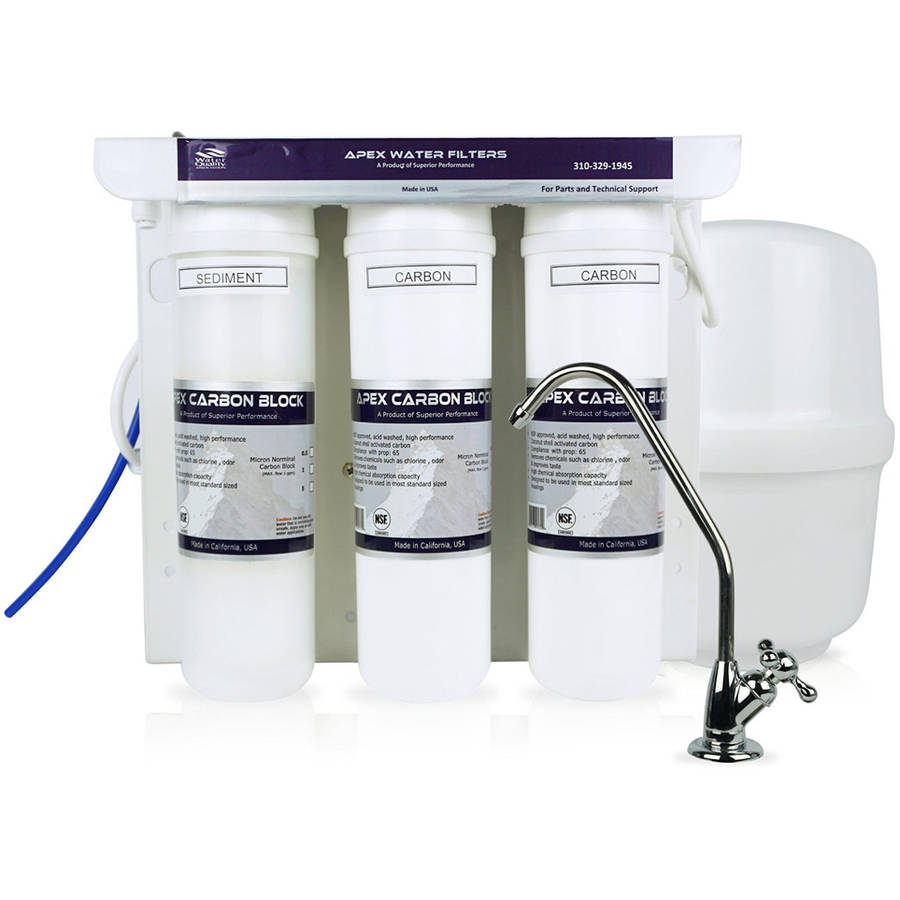 APEX MR-5054 Compact Reverse Osmosis Water Filter System with Booster Pump