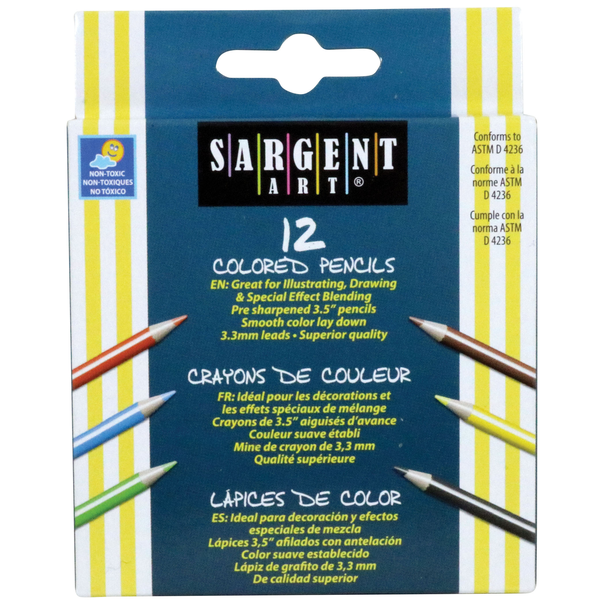 Sargent Art® Half Size Colored Pencils, 12 per pack, 24 packs