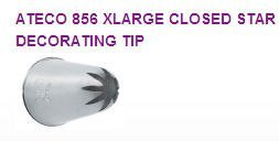 Xlarge Closed Star Cake / Cupcake Decorating Icing Tip #845