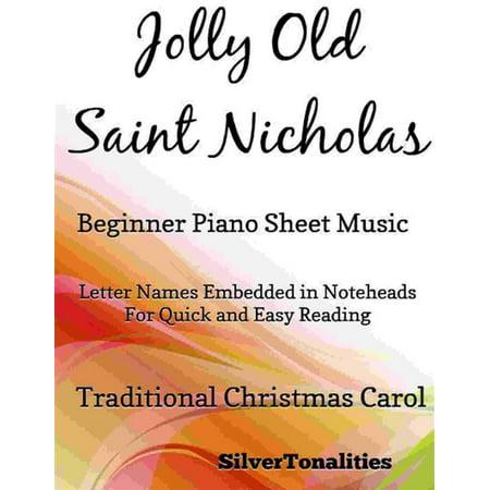 Jolly Old Saint Nicholas Beginner Piano Sheet Music - eBook (This Is Halloween Piano Sheet)