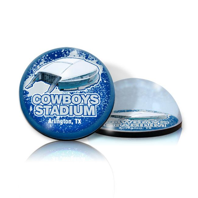 Paragon Innovations CowboysMAG STADIUM Crystal magnet with Cowboys stadium image  giving a magnifying effect. -NFL