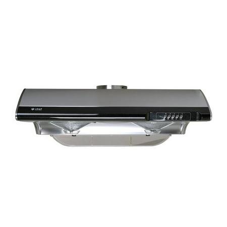 "Zephyr Europa Series Hoods - Chef 30"" Under Cabinet Range Hood C190 | TASTEMAKER SERIES | Slim Stainless Steel Design | 3 Speed Setting with 750 CFM | Includes Incandescent Lamp"