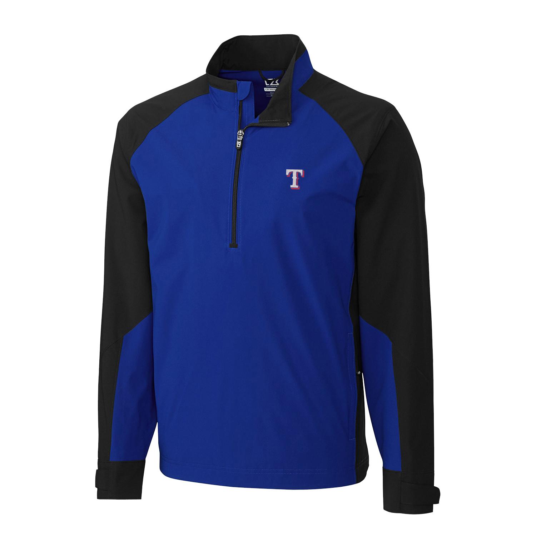 Texas Rangers Cutter & Buck Summit WeatherTec Half-Zip Pullover Jacket - Royal/Black